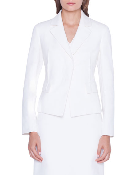Akris Alessia Cotton-Silk Blazer Jacket