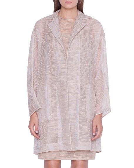 Badia Scribble-Embroidered Coat