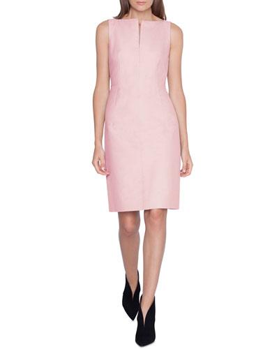Sleeveless Cotton Sheath Dress