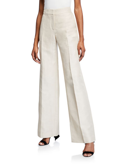 Mid-Rise Wide-Leg Pants
