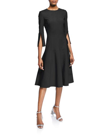 9fab97bf9a Oscar de la Renta 3 4-Sleeve Stretch-Wool Dress