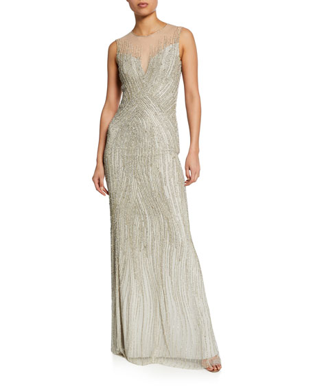 Jenny Packham Linings SLEEVELESS SEQUINED GOWN