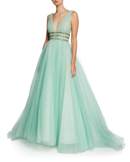 Monique Lhuillier Green Dress