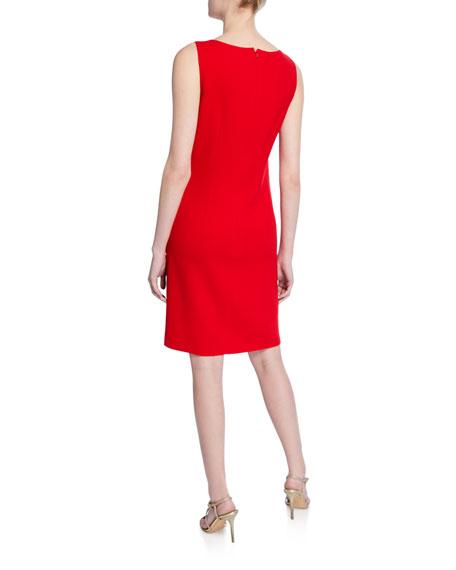 Tie-Front Boat-Neck Dress