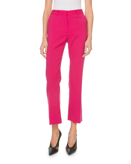 Altuzarra Adler Mid-Rise Stretch-Wool Cropped Pants
