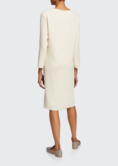 Larina Long-Sleeve Shift Dress