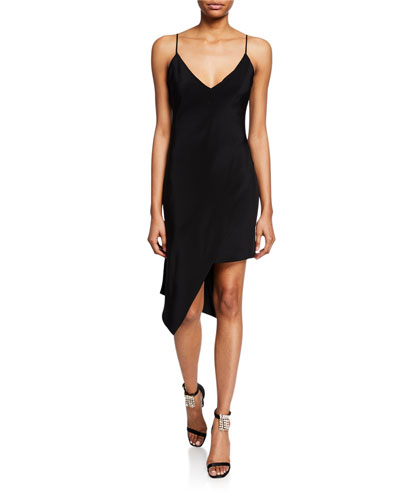 Spaghetti Strap Asymmetric Dress