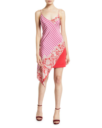 Asymmetric Sleeveless Silk Dress