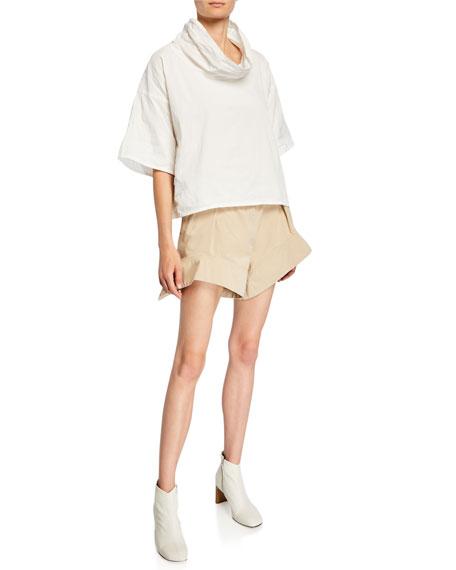 Curved-Hem Chino Shorts