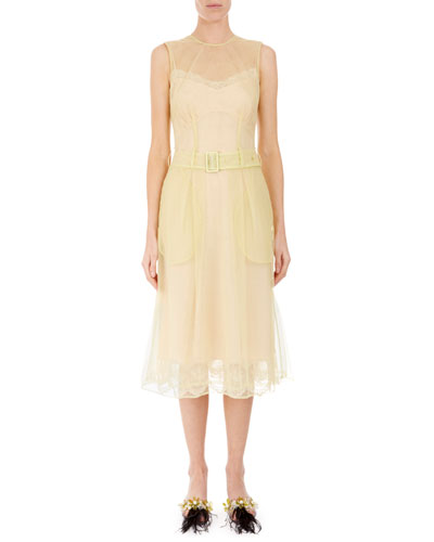 Lightweight Tulle Illusion A-Line Dress