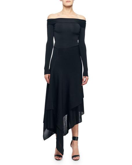 Victoria Beckham Dresses OFF-THE-SHOULDER ASYMMETRIC COCKTAIL DRESS