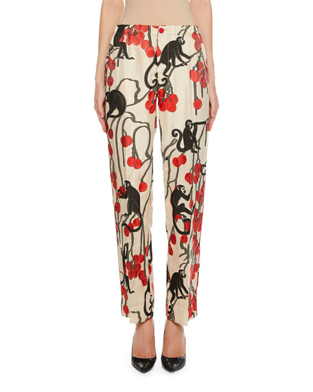 F.r.s For Restless Sleepers ETRE CHERRY JACQUARD PANTS
