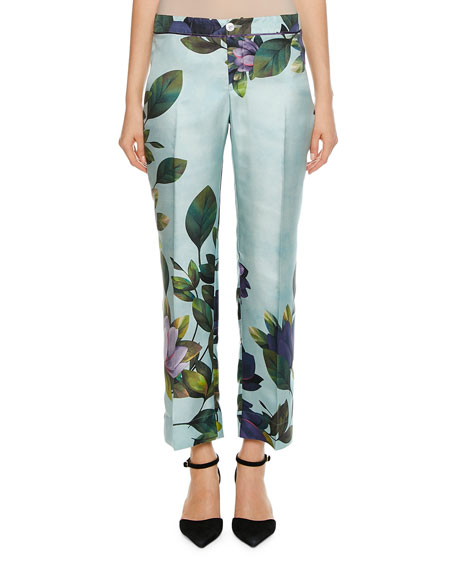 F.r.s For Restless Sleepers CEO MAGNOLIA PRINT TWILL PANTS
