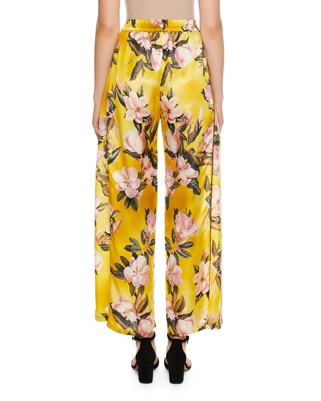Apate Cabotine Plumeria Print Pants