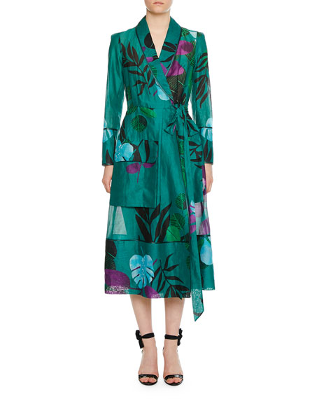 F.R.S For Restless Sleepers Rodo Organza Cotton-Leaf Robe