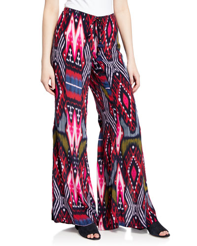 Simone Ikat Striped Wide Leg Pajama Pants