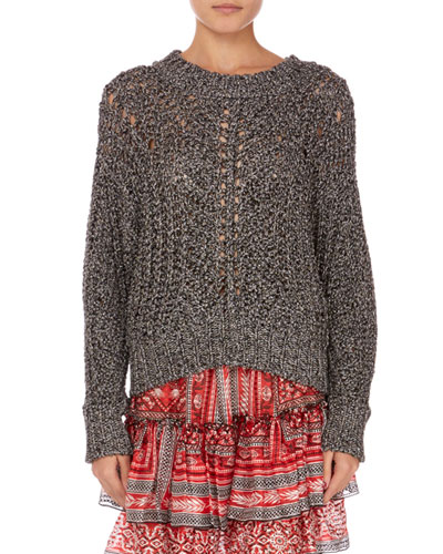Mays Metallic Crochet Sweater