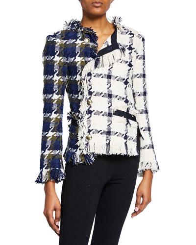 Two-Tone Twisted Tweed Jacket