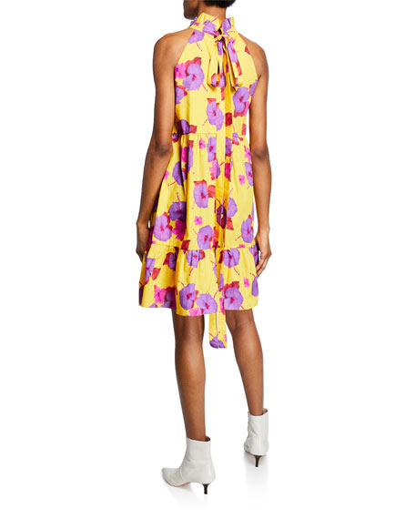 Margot Floral Cotton Poplin Halter Dress