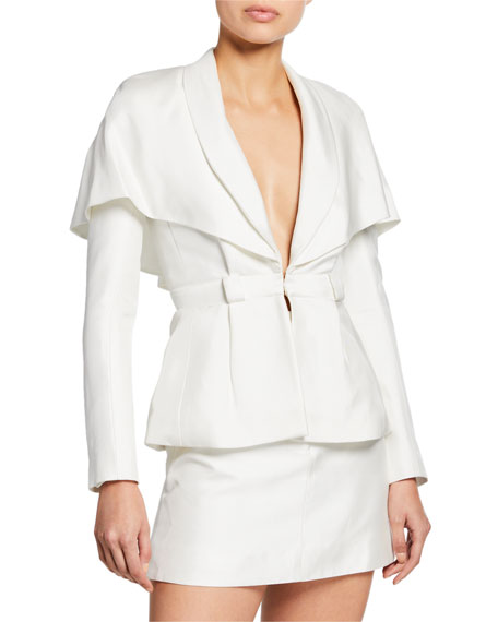 Brandon Maxwell CAPED SUIT JACKET