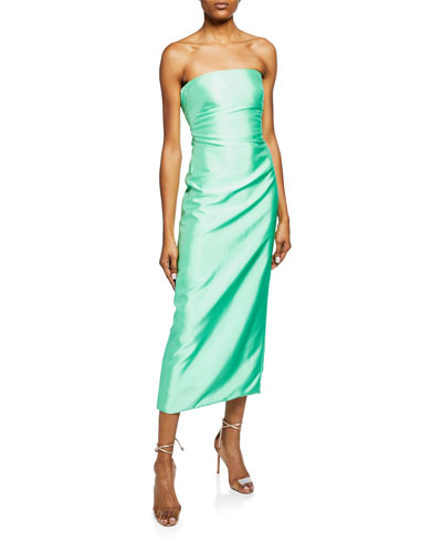Bella Strapless Midi Cocktail Dress