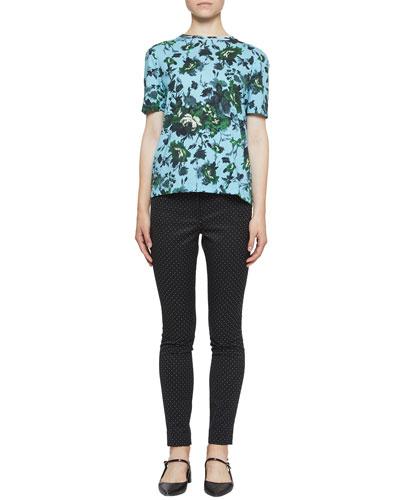 Floral Hettie Short-Sleeve Tee  Blue