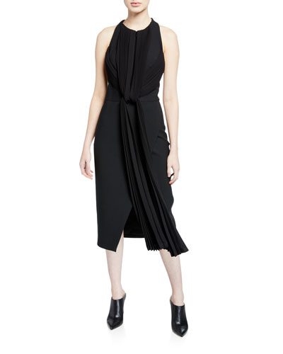 98ef8301432 Draped-Pleat Front Crepe Dress Quick Look. Dion Lee
