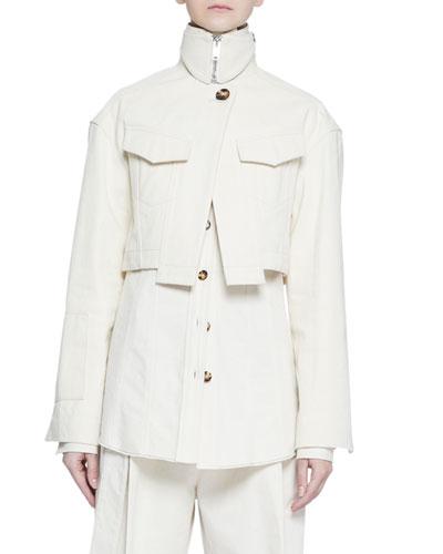 Cotton Canvas Hemp Jacket