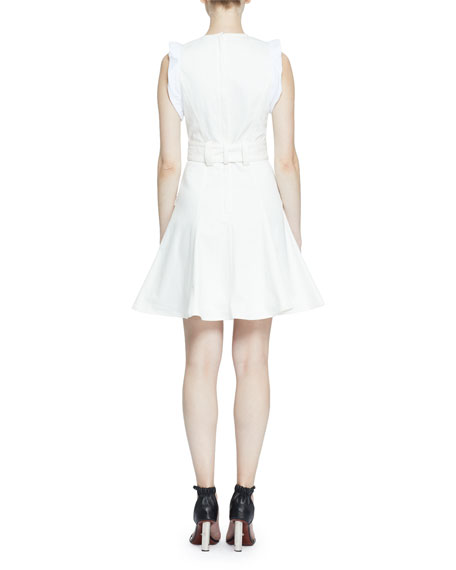 Belted Cotton Flare Dress