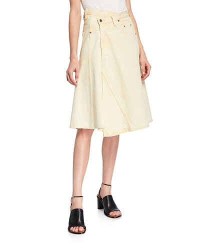 Liyel Asymmetric Denim Skirt