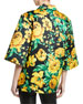Floral Print Button-Front Camp Shirt