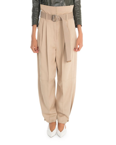 High-Waist Baggy-Fit Trousers