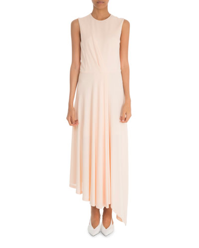 Sleeveless Ruched Waist Gown