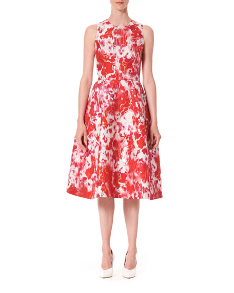 Carolina Herrera Sleeveless Patterned A-Line Dress
