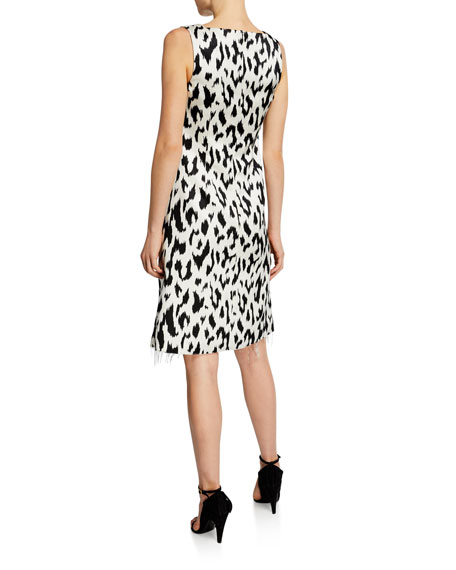 c2b07412355 CALVIN KLEIN 205W39NYC Leopard-Print Dress with Crushed Bow ...