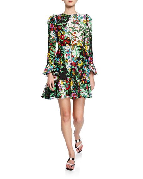 Double J Bell-Cuff Summer Visconti Dress