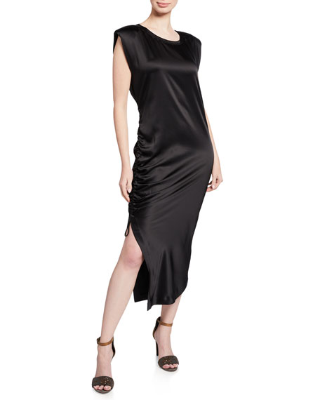Brunello Cucinelli Ruched Side Sleeveless Dress