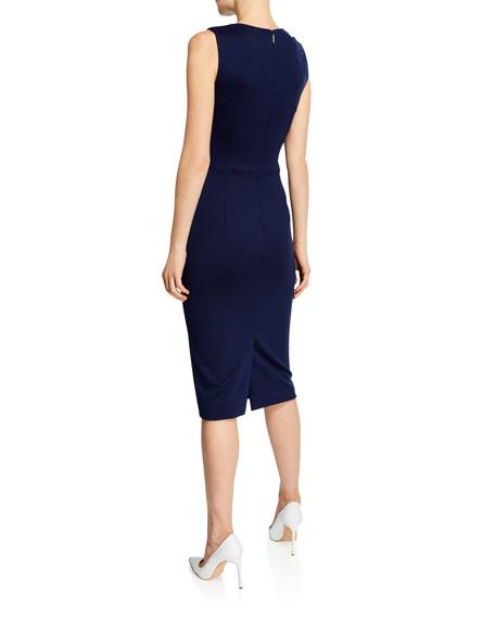 Jersey Embellished Sleeveless Sheath Dress