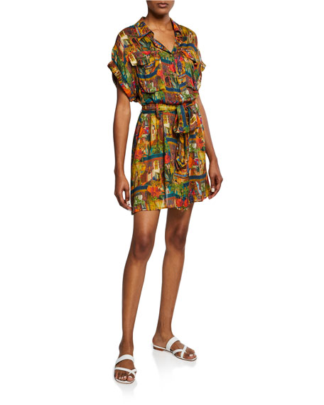 Chufy Riad Safari Tie-Waist Dress