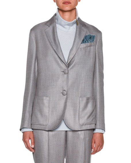 Giorgio Armani Melange Two-Button Blazer