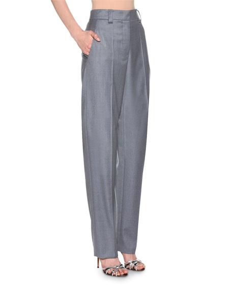 Melange Straight-Leg Trousers