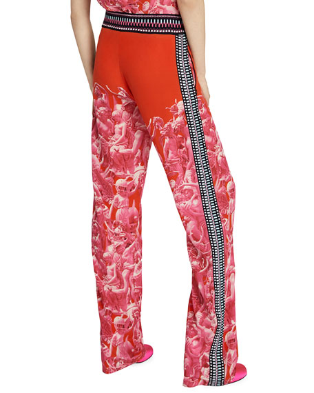 Pink Victory Print Trousers