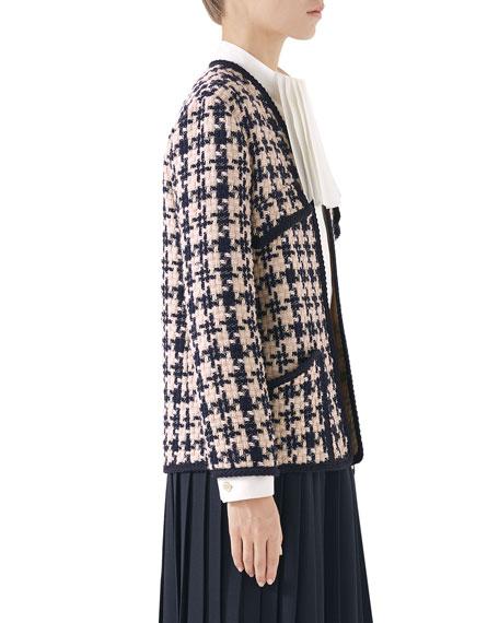 f1b97f78b12b16 Gucci Houndstooth Tweed Jacket