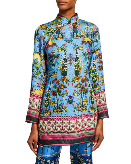 F.R.S For Restless Sleepers High-Neck Animal Jacquard Mini