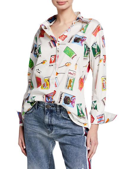Libertine Matchbooks Button-Front Long-Sleeve Shirt