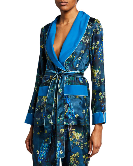 F.R.S For Restless Sleepers Peacock Floral Print Robe