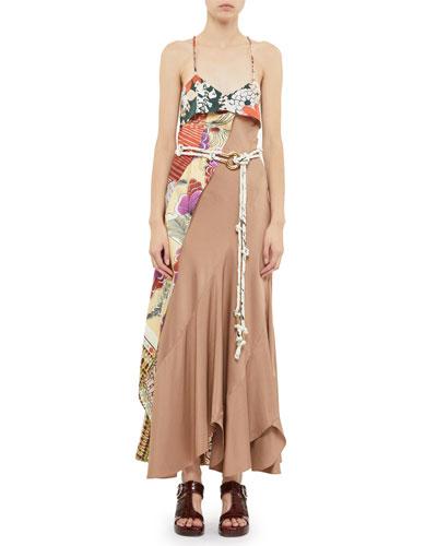 b13393bae00 Asymmetric Silk Maxi Dress