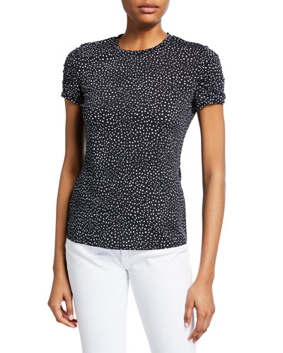 adcbe6a5449 Scozia Optic-Dotted Jersey Top Quick Look