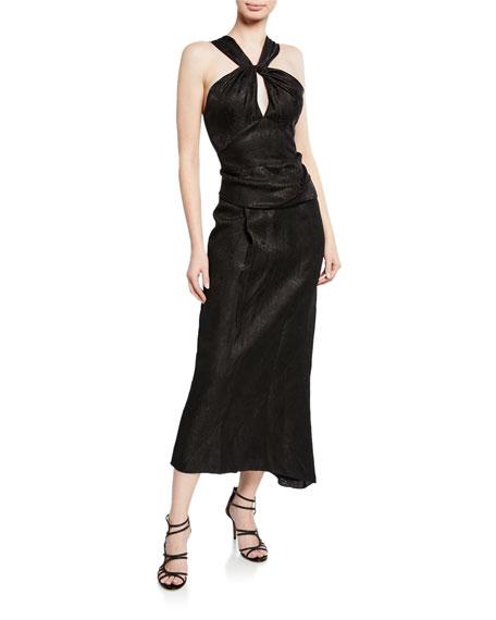 Derek Lam Halter-Neck Wrap Dress