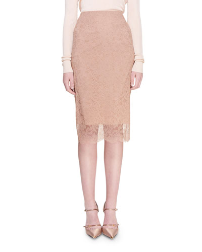 Chantilly Lace Pencil Skirt